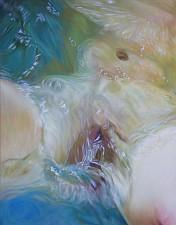 Der stille Atem von Wasser 170x130 cm Oel auf Leinwand 2018
