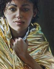 GOLDKIND Chiara 170 x 60 cm Oel auf Leinwand 2016'18