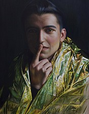 GOLDKIND Shakur 170 x 110 cm Oel auf Leinwand 2016'18