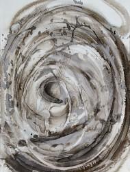 Wildwuchs 4 50x36 cm Tusche auf Papier 2018